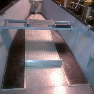 interior floor lined with truck bed-liner