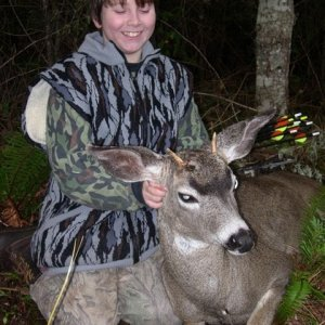 My son Dustins first deer