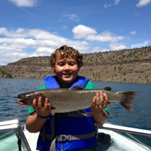 Bull Trout caught on Lake Billy Chinook 5/25/2013
