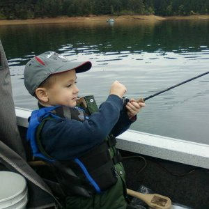 Jackson fishing at Hagg