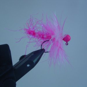 Pink Cotton Candy Worm Jig