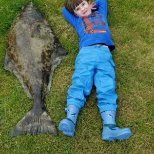 Torin's first halibut