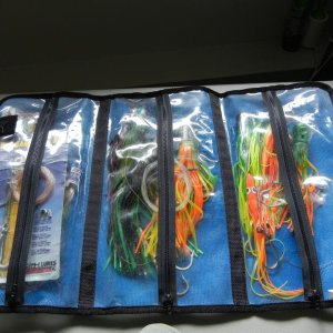 Lures zipped in three compartments