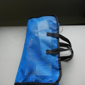 Folded velcro bag with handles