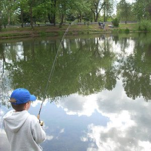 Youth fishing in Canby  May 7 2009