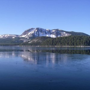 Paulina Lake Iced Over in May?!?!?!
