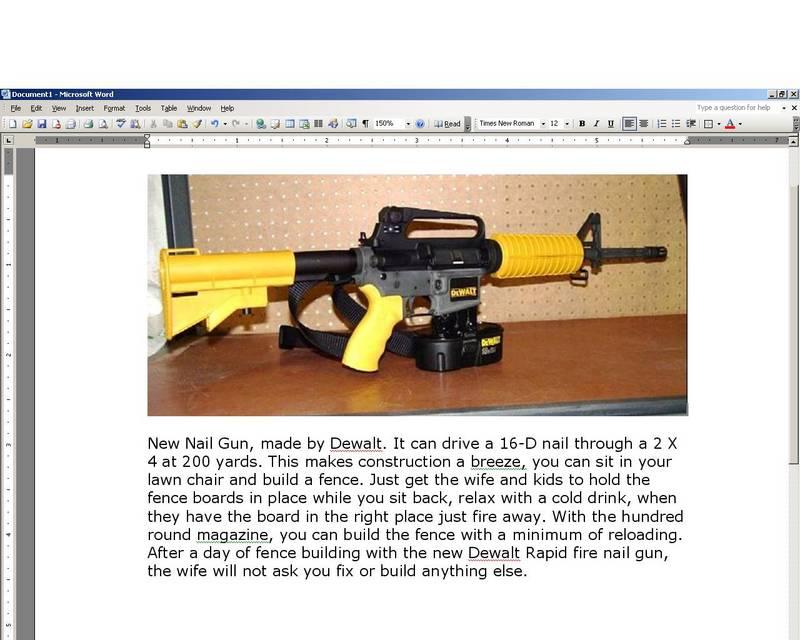 DeWalt\'s new AR-15 chambered in 16d - www.ifish.net