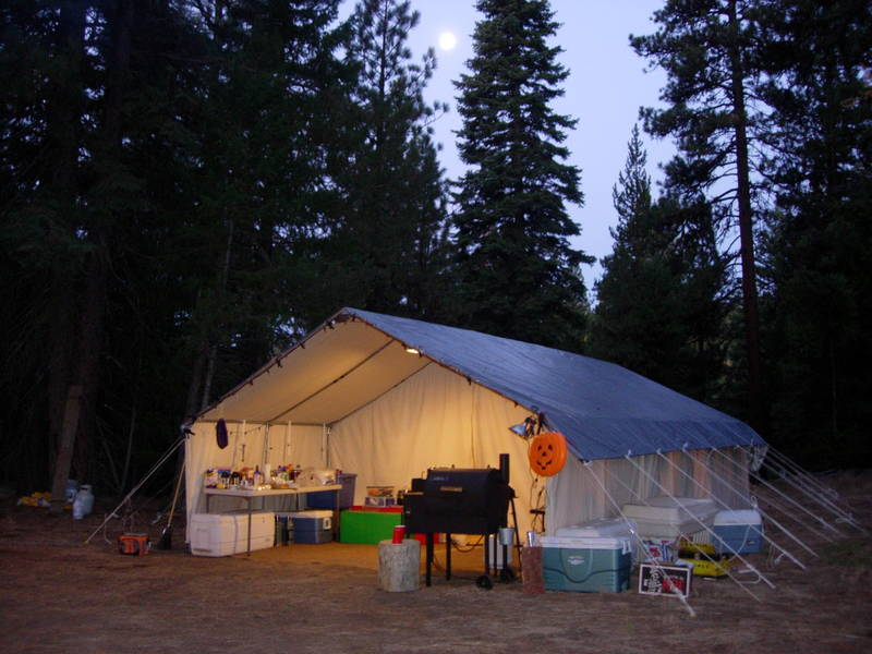 Report this image & Wall tent camp pictures - www.ifish.net
