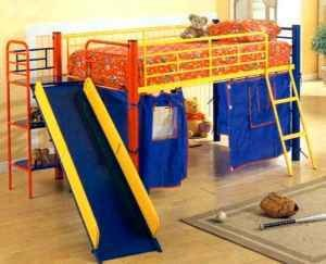 Awesome kids loft bed w slide - Show me pictures of bunk beds ...