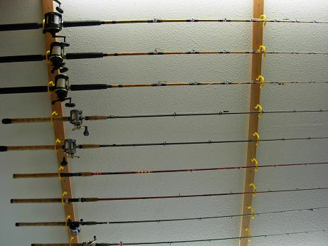 Fishing Pole Ceiling Rack Plans